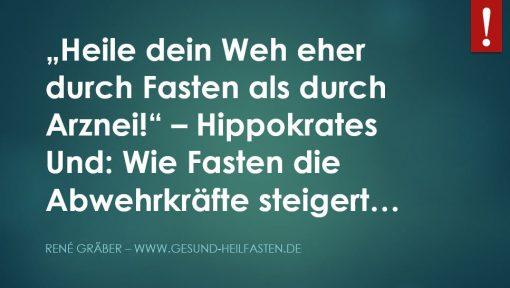 Text Hippokrates: Heile dich durch Fasten