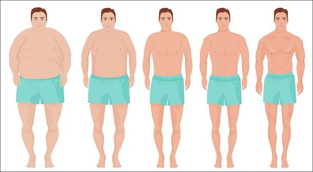 dicke und schlanke Männer